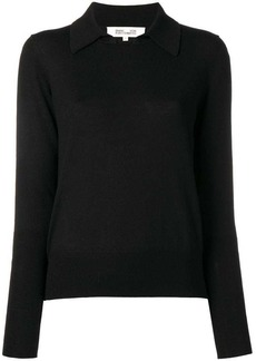 Diane Von Furstenberg knitted collar top