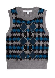 Diane Von Furstenberg Knitted Merino Wool Vest