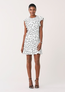 Diane Von Furstenberg Krona Ruffled Crepe Mini Dress