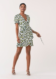Diane Von Furstenberg Emilia Ruffled Crepe Mini Wrap Dress