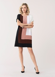 Diane Von Furstenberg Danika Silk Crepe de Chine Shift Dress