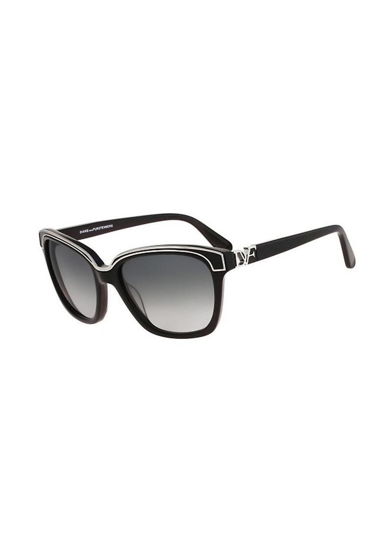 Diane Von Furstenberg Kylie Square Sunglasses