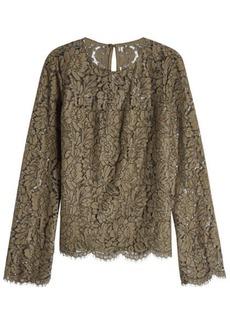 Diane Von Furstenberg Lace Top with Cotton