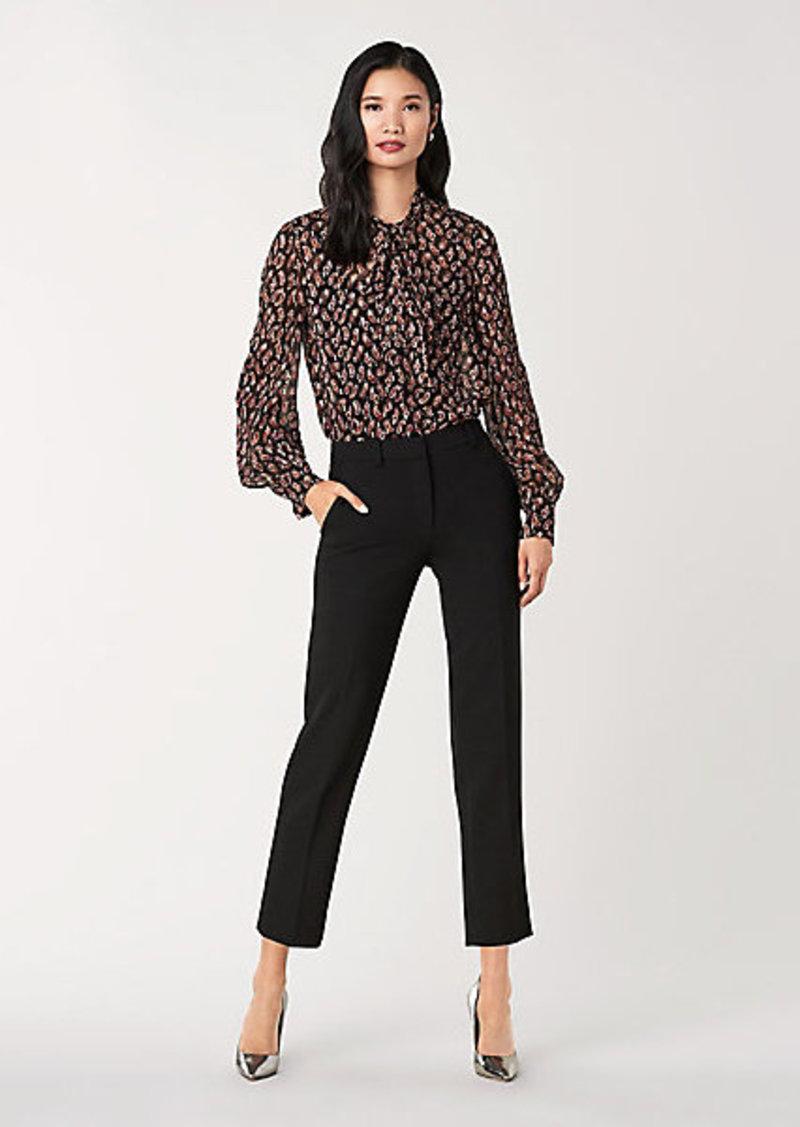 Diane Von Furstenberg Lanie Silk-Metallic Necktie Blouse
