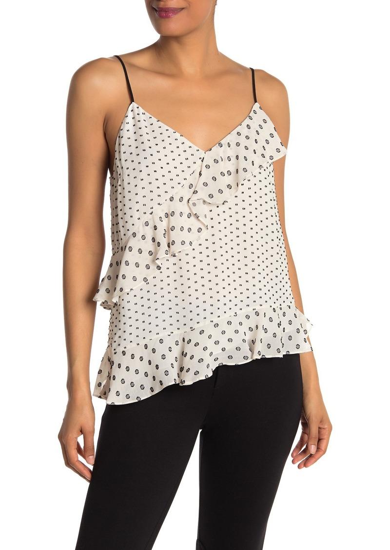 Diane Von Furstenberg Lara Multi Clip Dot Asymmetrical Camisole