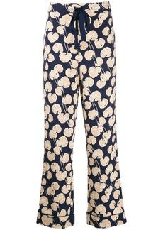 Diane Von Furstenberg leaf kimono trousers