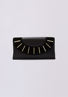 Diane Von Furstenberg Leather and Suede Bar Stud Envelope Clutch