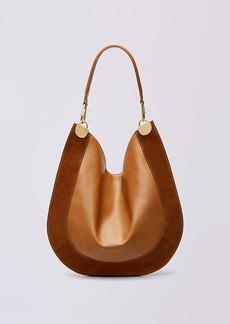 Diane Von Furstenberg Leather and Suede Hobo