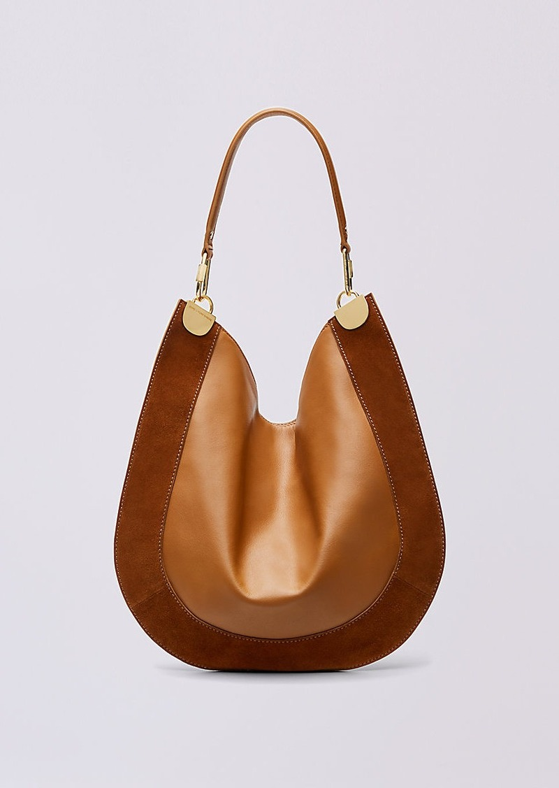 eb5904ca72ee6 Diane Von Furstenberg Leather and Suede Hobo