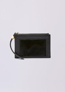 Diane Von Furstenberg Leather Calf Hair Zip Card Case