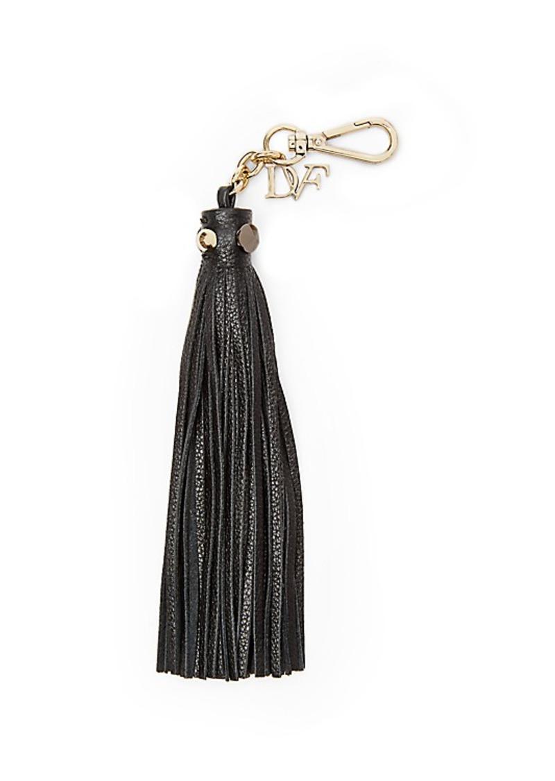 Diane Von Furstenberg Leather Fringe Tassel Charm