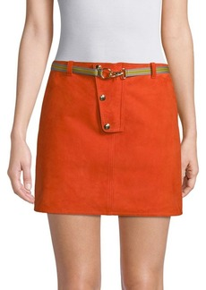 Diane Von Furstenberg Leather Mini Skirt