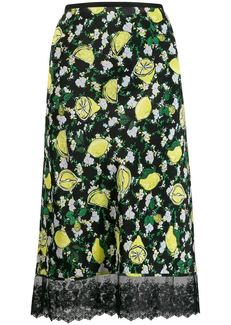 Diane Von Furstenberg lemon print skirt