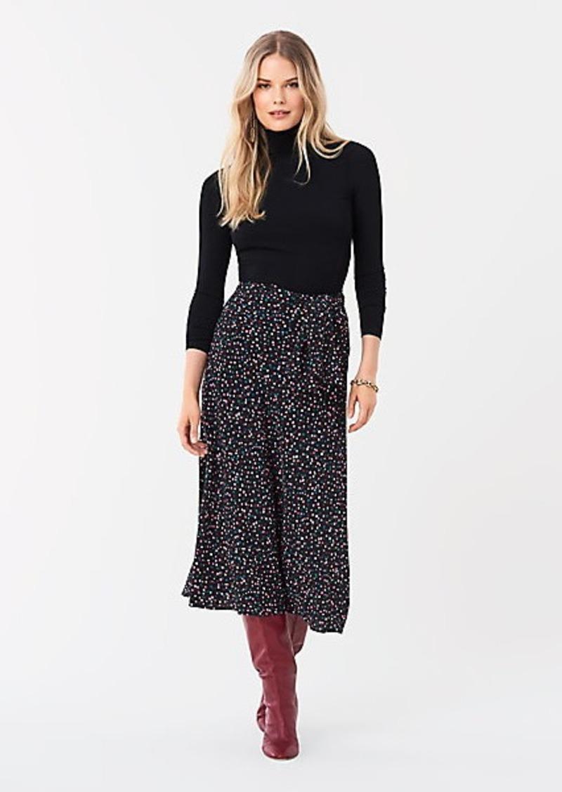 Diane Von Furstenberg Lesley Crepe Midi Skirt