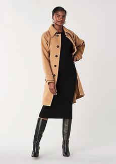 Diane Von Furstenberg Lia Wool Belted Coat