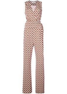 Diane Von Furstenberg link print jumpsuit