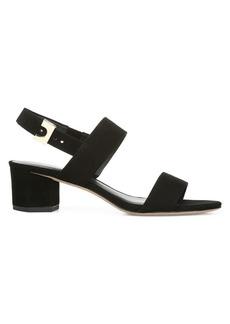 Diane Von Furstenberg Link Slingback Suede Sandals