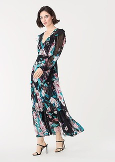 Diane Von Furstenberg Linnett Sheer Chiffon Faux-Wrap Maxi Dress
