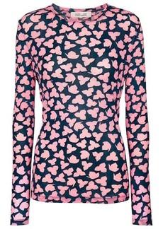 Diane Von Furstenberg Logan printed mesh top