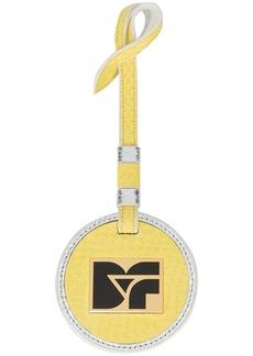Diane Von Furstenberg logo plaque bag charm