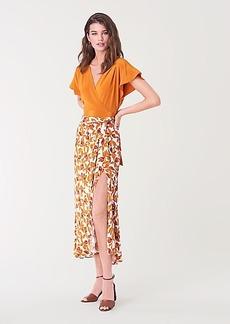 Diane Von Furstenberg Lois Crepe Midi Skirt