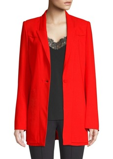 Diane Von Furstenberg Long One-Button Blazer