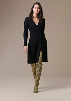 Long Sleeve A-Line Wrap Dress