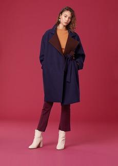 Diane Von Furstenberg Long Sleeve Belted Wool Jacket