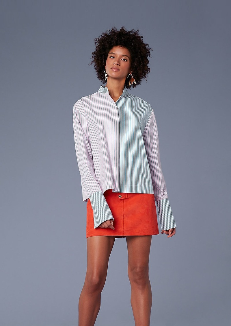 Diane Von Furstenberg Long-Sleeve Collared Button-Down Top
