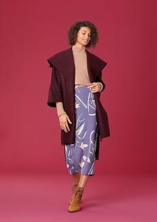 Diane Von Furstenberg 3/4 Sleeve Collared Wool Coat