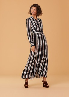 Diane Von Furstenberg Long-Sleeve Collared Flare Shirt Dress