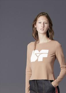 Diane Von Furstenberg Long-Sleeve Crew Neck DVF Logo Pull Over