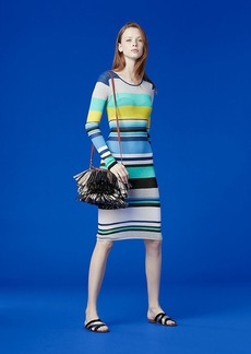 Long-Sleeve Crew Neck Knit Dress