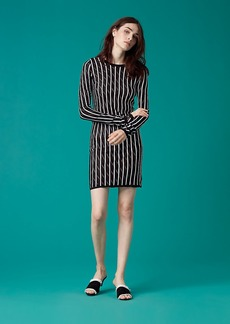 Diane Von Furstenberg Long-Sleeve Crew Neck Knit Dress