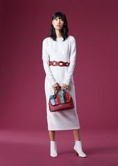 Diane Von Furstenberg Long-Sleeve Crew Neck Sequin Dress