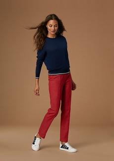Diane Von Furstenberg Long-Sleeve Crew Neck Sweater