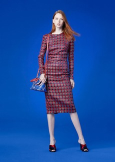 Diane Von Furstenberg Long-Sleeve Crew Neck Tailored Dress