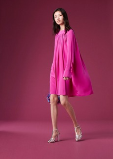 Diane Von Furstenberg Long-Sleeve Crew Neck Tent Dress