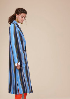 Long-Sleeve Floor-Length Jacket