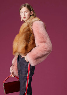 Long-Sleeve Fur Jacket