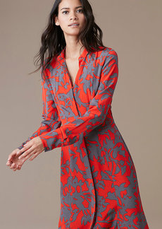 Long-Sleeve Maxi Shirtdress