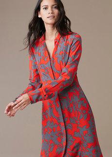 Long-Sleeve Maxi Shirtdress