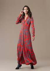 Diane Von Furstenberg Long-Sleeve Maxi Shirtdress