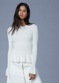 Diane Von Furstenberg Long-Sleeve Peplum Top