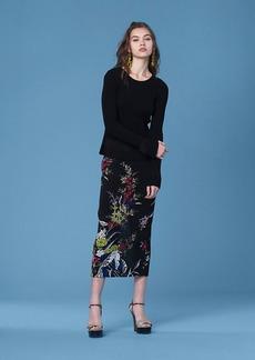 Diane Von Furstenberg Long-Sleeve Peplum Top
