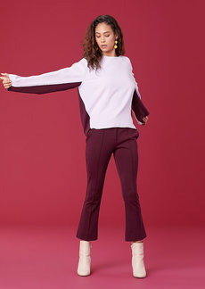 Diane Von Furstenberg Long Sleeve Satin Sweatshirt
