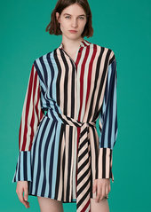 Diane Von Furstenberg Long-Sleeve Silk Shirt Dress