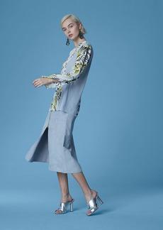 Diane Von Furstenberg Long-Sleeve Side Slit Blouse