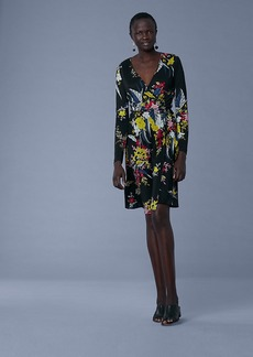 Diane Von Furstenberg Long-Sleeve Silk Jersey Wrap Dress