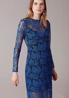 Diane Von Furstenberg Long Sleeve Tailored Midi Dress